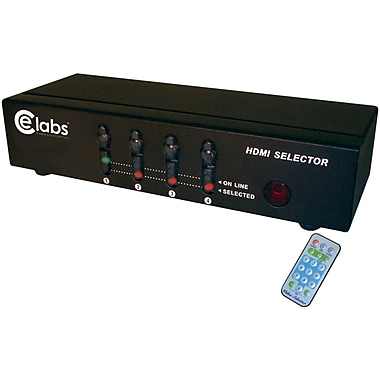 CE Labs® HDMI Switcher with 4 Input/1 Output
