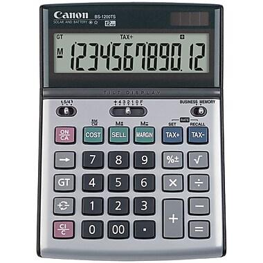 Canon® BS-1200TS 12-Digit Solar And Battery-Powered Tilt Adjustable Calculator