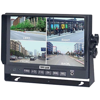 CrimeStopper SecurView™ SV-8900.QM.II LCD Car Monitor With Built-in Quad View, 7