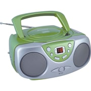 Sylvania SRCD243M Portable CD Boom Box With AM/FM Radio, Green