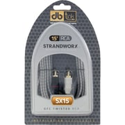 Db Link™ Strandworx™ Series 15' Twisted-Pair RCA Adapter, Black/White