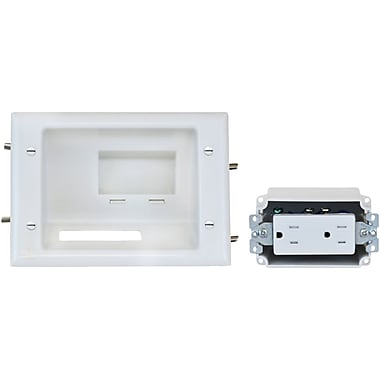 Datacomm™ Recessed Low Voltage Mid-Size Plate, White