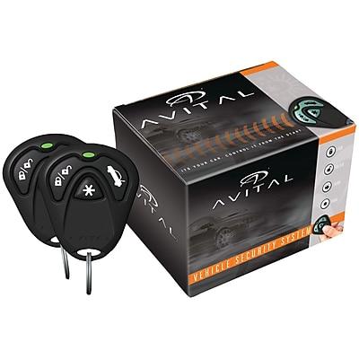 Avital® 1 Way Security System, Black