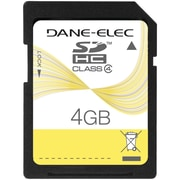 Dane-Elec – Carte mémoire SD classe 4 de 4 Go (DEMDASD4096)