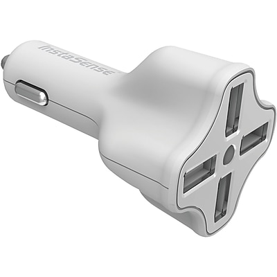 DigiPower® 4-Port 6.2 A USB Car Charger With InstaSense™ Technology