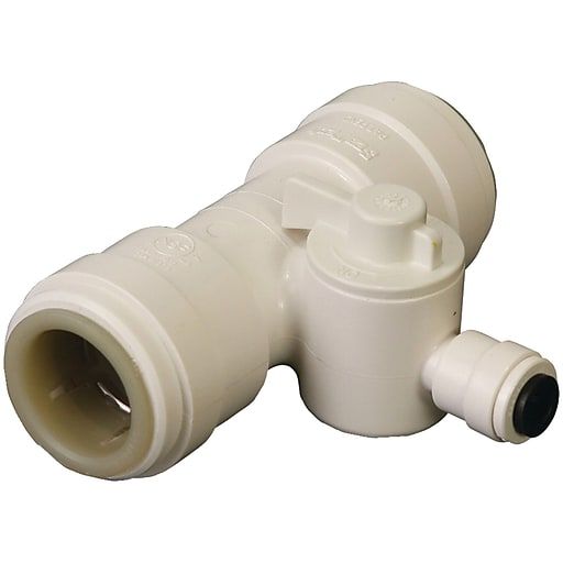 "Dormont® Quick-Connect Tee Valve, White, 1/2"" (TEE-010-P5)"