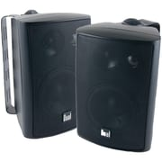"Dual LU43 Series 4"" 3 Way Indoor/Outdoor Speaker, 100 W, Black"