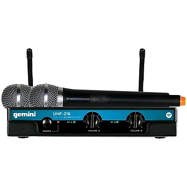 Gemini® UHF-216M Dual-Channel Wireless Handheld Microphone System