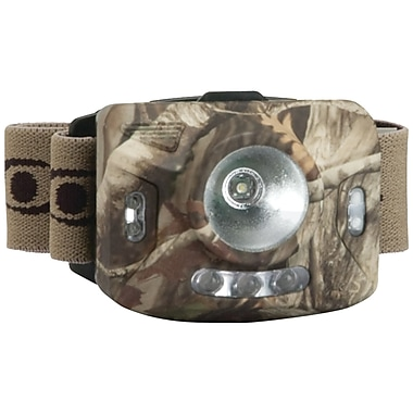 Cyclops Ranger CREE XPE 126-Lumens 4 Stage LED Headlamp With 3 Green LED, Camo, 6.8