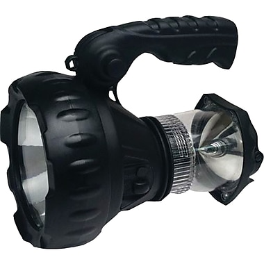 GSM Cyclops LED Rechargeable Lantern/Spotlight Combo, 140 Lumens, 3W, Black (GSMCYCRL3WLAN)