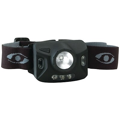 Cyclops® Ranger CREE® XPE 126-Lumens 4 Stage LED Headlamp W/3 Green LED, Black, 13.5