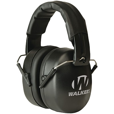 WalkerGameEar® EXT External Range Shooting Folding Earmuff, Black