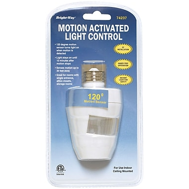 Bright Way Motion-Activated Indoor Light, 120 deg