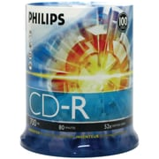 Philips 700MB 80-Min 52x CD-Rs, 100/Pack (HOOCDR80D52N)