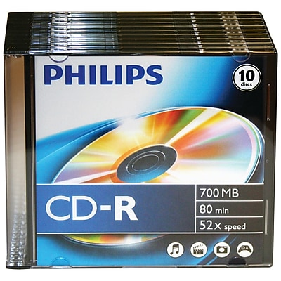 Philips CDR80D52N/300 700MB 80-Min 52x CD-Rs With Jewel Cases