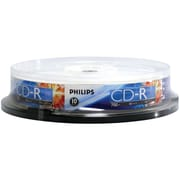 Philips 700MB 80-Min 52x CD-Rs, 10/Pack (HOOCR7D5NP10)