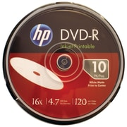 HP 4.7GB 16x Printable DVD-Rs, 10/Pack (HOODM16WJH010)