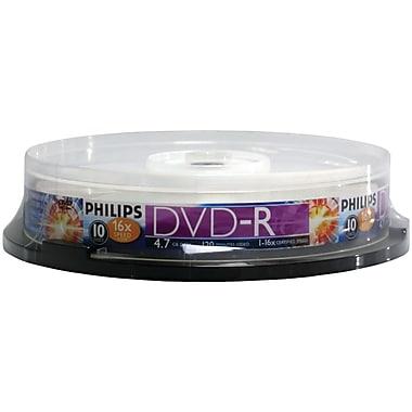 Philips – DVD-R 16x de 4,7 Go, 10/paquet (HOODM4S6B10F)
