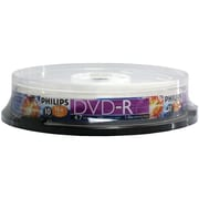Philips 4.7GB 16x DVD-Rs, 10/Pack (HOODM4S6B10F)