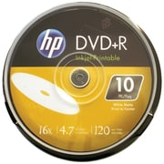 HP 4.7GB 16x Printable DVD+Rs, 10/Pack (HOODR16WIJH010)