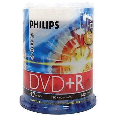 Philips – DVD+R 16x de 4,7 Go, 100/paquet (HOODR4S6B00F)