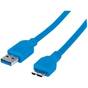 Manhattan® 3.28' SuperSpeed USB 3.0 Male/Male Cable, Blue
