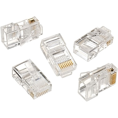 IDEAL® RJ-45 8-Position 8-Contact Round Solid Modular Plug, 50/Pack