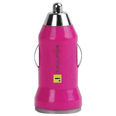 Iessentials USB Car Charger For iPhone®/iPod®/Smartphone, Pink