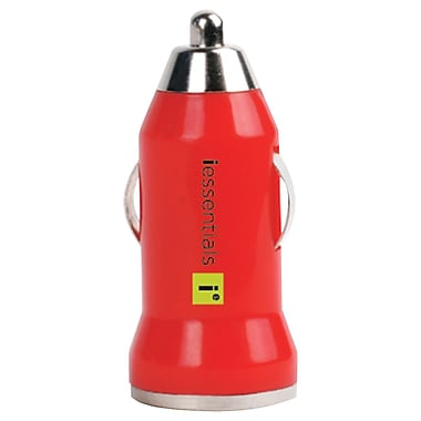 Iessentials USB Car Charger For iPhone®/iPod®/Smartphone, Red