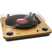 ION® Max LP Conversion Turntable With Stereo Speakers, Natural Wood