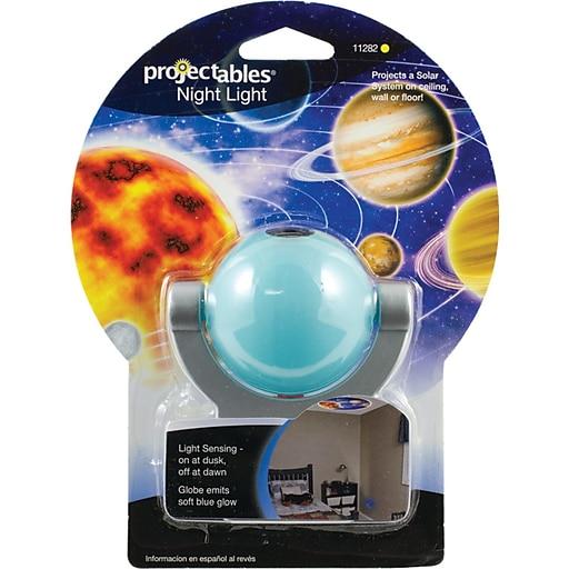 "Jasco Projectables® Solar System LED Projection Night-Light, Chrome, 3 1/2""H x 2""W x 2 7/8""D"