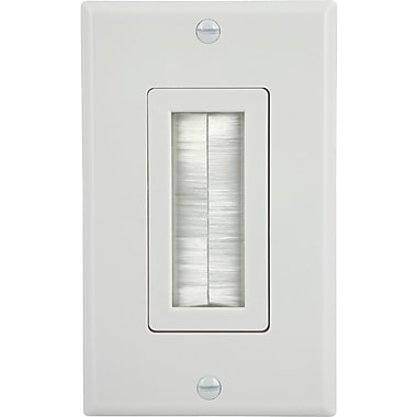 GE 87697 Ultra Pro Single Brush Wall Plate, White
