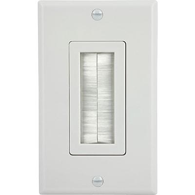 GE 87697 Ultra Pro Single Brush Wall Plate, White