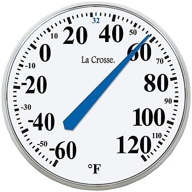 La Crosse Technology – Thermomètre rond intérieur/extérieur, 13 1/2 po (LCR104114)