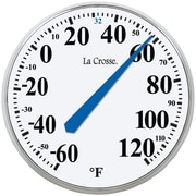 "La Crosse Technology Indoor/Outdoor Round Thermometer, 13 1/2"" (LCR104114)"