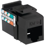 Leviton® QuickPort® GigaMax Cat 5e Channel-Rated Keystone Jack Connector, Black