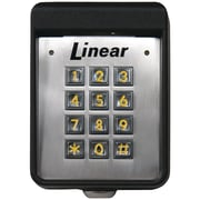 Linear Exterior Digital Keypad, Black/Silver