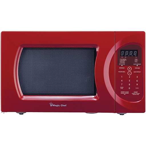 Magic Chef® 0.9 cu ft Microwave Oven, Red