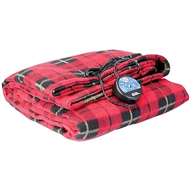 MAXSA® Comfy Cruise® 12 V Heated Travel Blanket, Red Plaid