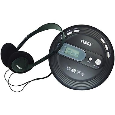 Naxa® Slim Personal MP3/CD Player With FM Scan Radio, Black
