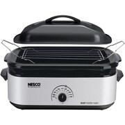 Nesco® 18-Quart Porcelain Roaster Oven, Silver, (NES481847)