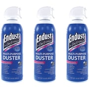 Endust Multi-Purpose Air Duster Kit With Bitterant, 10 oz., 3/Pack (NOZ11384KIT)
