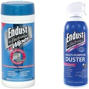Endust® Cleaning Kit with 70/CT Pop-Up Wipes, 2/Pack