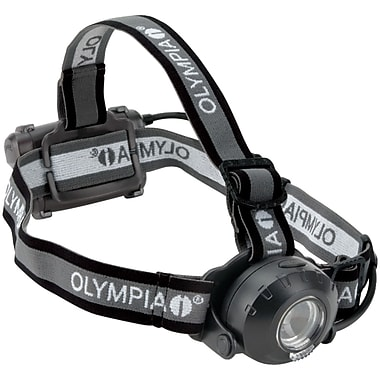 Olympia® 230-Lumens Luxeon Rebel White LED Headlamp, Gray/Red, 2.1