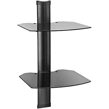 Omnimount® Tria 2-Shelf Wall Furniture System Upto 30 lbs., Black