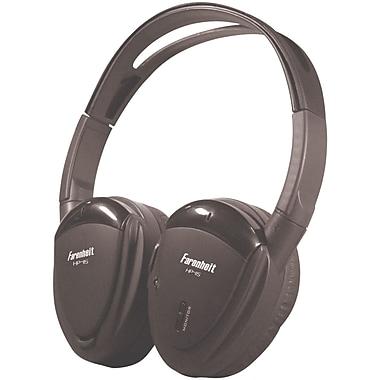 Power Acoustik – Casque d'écoute supra-auriculaire sans fil à canal IR simple avec oreillettes pivotantes, noir (POWHP11S)
