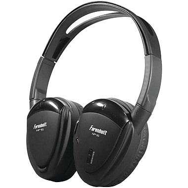 Power Acoustik – Casque d'écoute supra-auriculaire sans fil à 2 canaux IR, noir (POWHP12S)