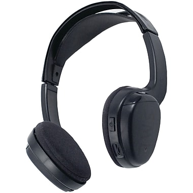 Power Acoustik Wireless Single Channel Over-Ear IR Headphone, Black (POWWLHP100)