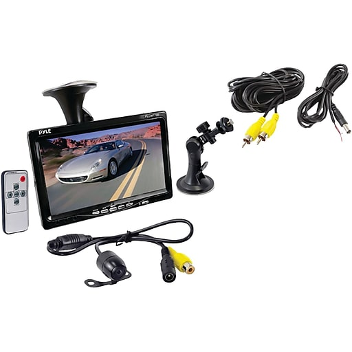 """Pyle® PLCM7700 Rear View Backup Camera and Monitor System With 7"""" LCD Display"""
