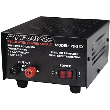 Pyramid 13.8 VDC 2.5 A Power Supply, 50 W